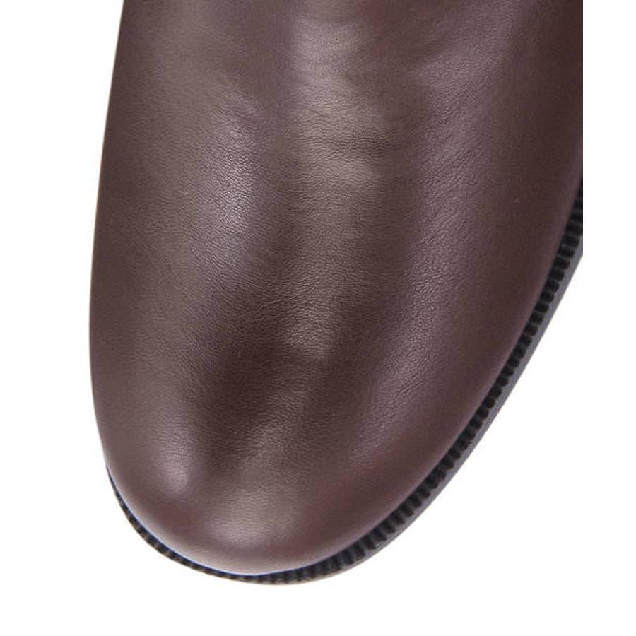 la farfa ラファーファ レディース ビット付きサイドゴアブーツ【防水/大きいサイズ】 509 ブラウン 6