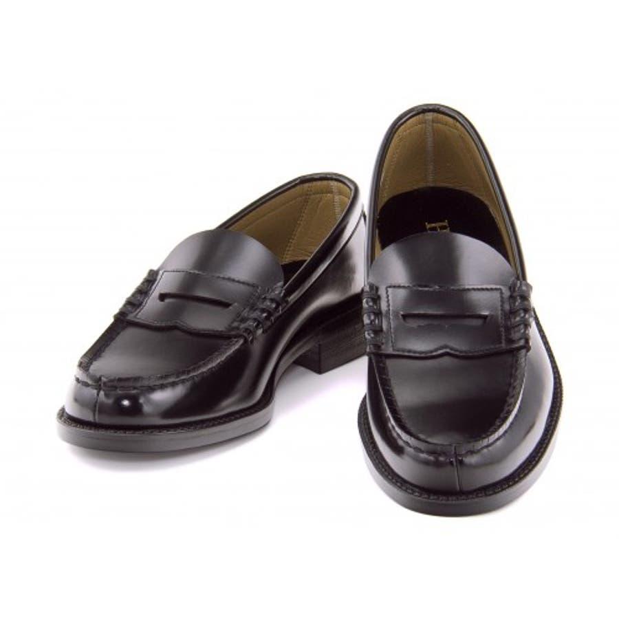 HARUTA (ハルタ) ローファー 6550ブラック 3E(24.0?27.5cm)|ビジネスシューズ メンズビジネス メンズビジネス シューズ 靴 くつ ビジネス靴 仕事 ワークシューズ 紳士靴 紳士 おしゃれ ビジネスマン 男性 通勤メンズビジネスシューズ メンズシューズ ローカットシューズ 2