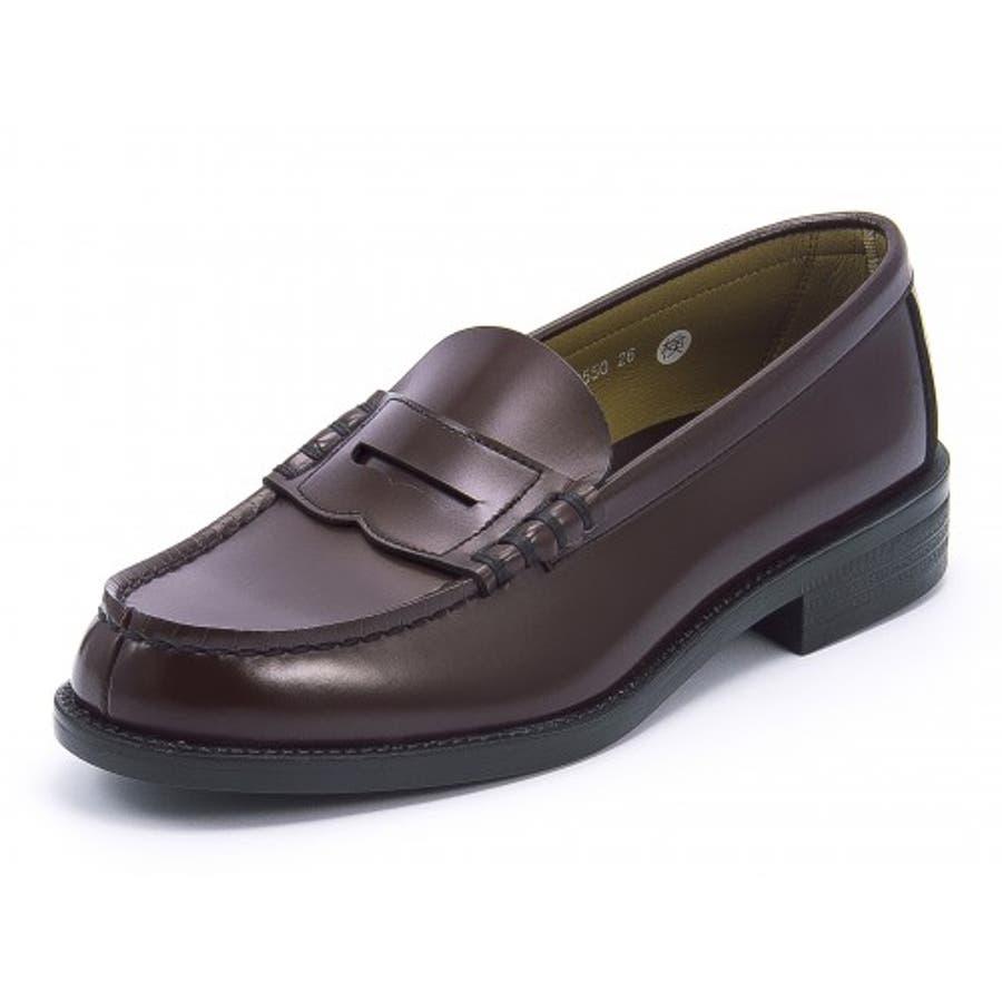 HARUTA(ハルタ) メンズ ローファー 6550ブラウン | ビジネスシューズ メンズビジネス ビジネス シューズ 靴 くつビジネス靴 仕事 ワークシューズ 紳士靴 紳士 おしゃれ ビジネスマン 男性 通勤 メンズビジネスシューズ メンズシューズ ローカットローカットシューズ 1