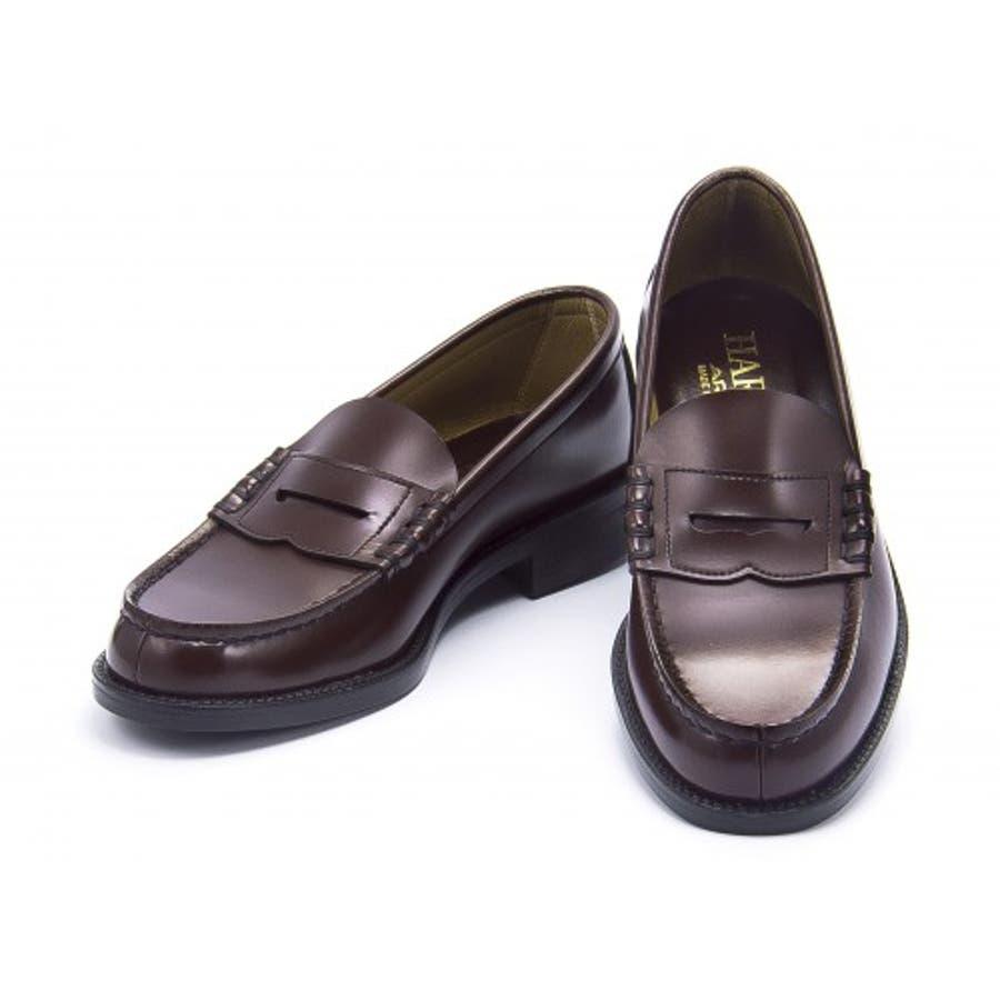 HARUTA(ハルタ) メンズ ローファー 6550ブラウン | ビジネスシューズ メンズビジネス ビジネス シューズ 靴 くつビジネス靴 仕事 ワークシューズ 紳士靴 紳士 おしゃれ ビジネスマン 男性 通勤 メンズビジネスシューズ メンズシューズ ローカットローカットシューズ 2