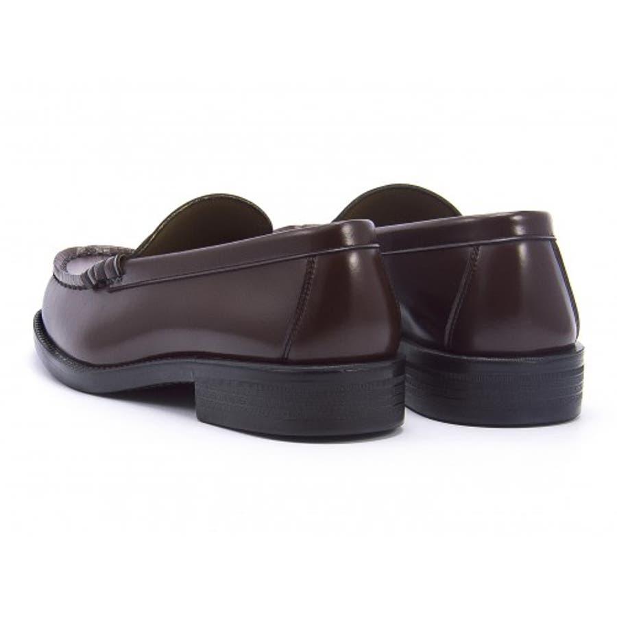 HARUTA(ハルタ) メンズ ローファー 6550ブラウン | ビジネスシューズ メンズビジネス ビジネス シューズ 靴 くつビジネス靴 仕事 ワークシューズ 紳士靴 紳士 おしゃれ ビジネスマン 男性 通勤 メンズビジネスシューズ メンズシューズ ローカットローカットシューズ 3