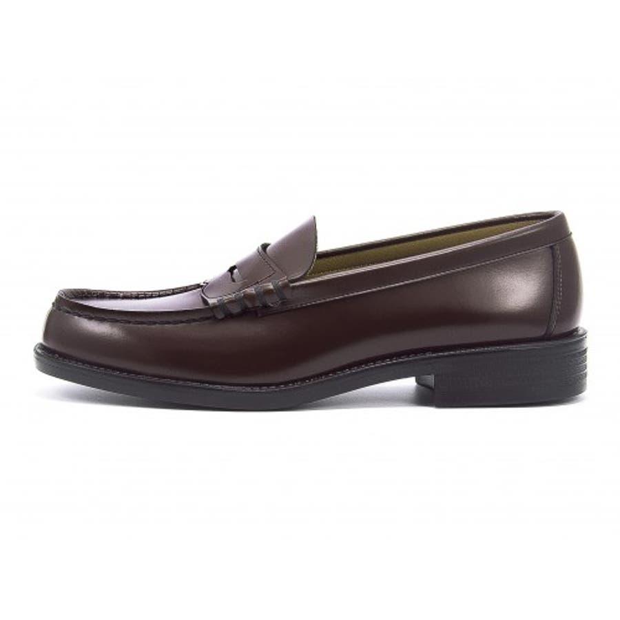 HARUTA(ハルタ) メンズ ローファー 6550ブラウン | ビジネスシューズ メンズビジネス ビジネス シューズ 靴 くつビジネス靴 仕事 ワークシューズ 紳士靴 紳士 おしゃれ ビジネスマン 男性 通勤 メンズビジネスシューズ メンズシューズ ローカットローカットシューズ 4