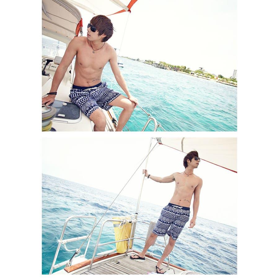 ペアルック 水着 | レディース メンズ お揃い スイムウェア プール 海 レジャー カップル ビキニ ホルターネック ショートパンツトランクス 8