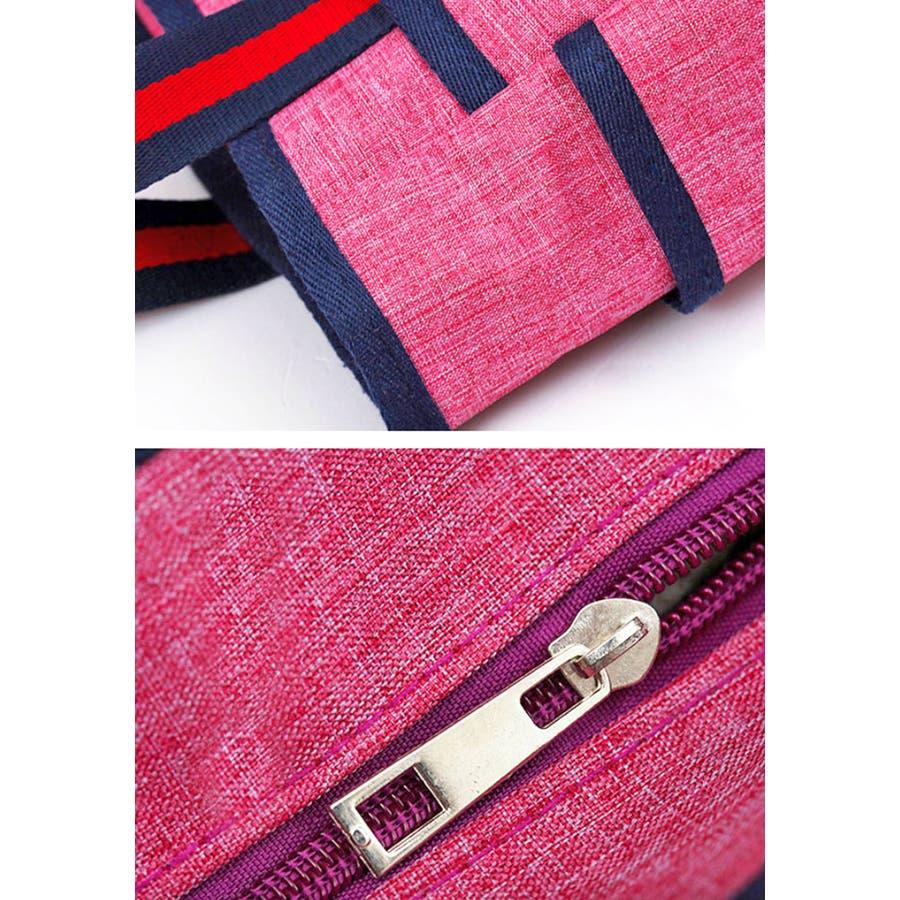 トートバッグ   レディース メンズ 男女兼用 大容量 ポリエステル ジップ付き ポケット ジム 通学 レッド ブルー ネイビーブラック ピンク 黒 赤 青 シンプル 定番 シンプル 9
