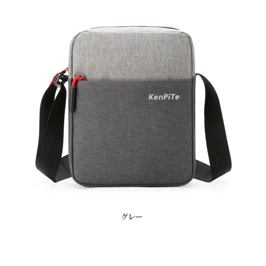 ショルダーバッグ サコッシュ | メンズ レディース 男女兼用 斜めがけ 肩がけ ブルー ブラック グレー ピンク ポリエステルコンパクト サブバッグ 4