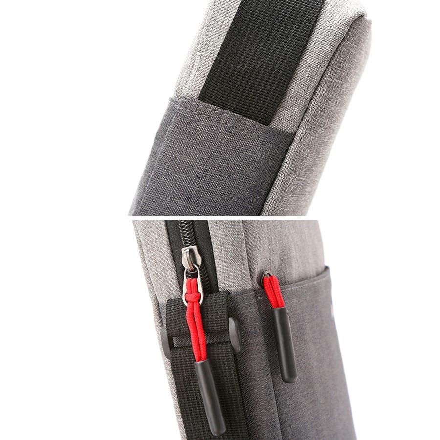 ショルダーバッグ サコッシュ | メンズ レディース 男女兼用 斜めがけ 肩がけ ブルー ブラック グレー ピンク ポリエステルコンパクト サブバッグ 7