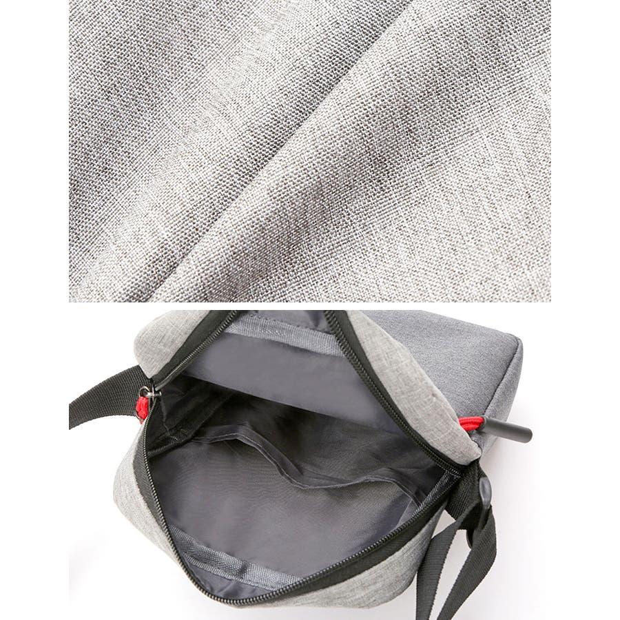 ショルダーバッグ サコッシュ | メンズ レディース 男女兼用 斜めがけ 肩がけ ブルー ブラック グレー ピンク ポリエステルコンパクト サブバッグ 9