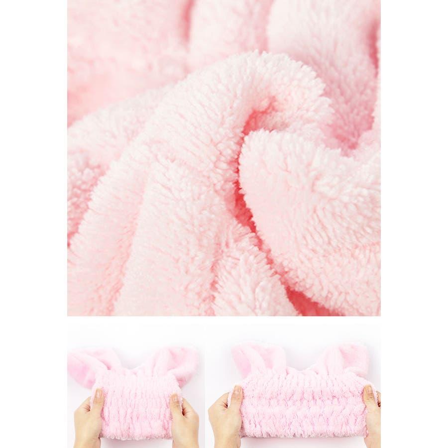 猫耳 シャワーキャップ 2個セット | タオルキャップ ねこ 可愛い お風呂 バス用品 レディース ピンク ブルー 吸水性 速乾性プール スイミング ふわふわ マイクロファイバー タオルキャップ 6
