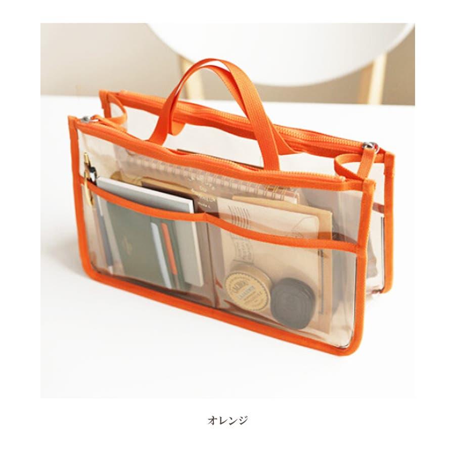 91f276dee4 透明 バッグインバッグ   クリア 整理整頓 小分け 収納 鞄 小物収納 ...