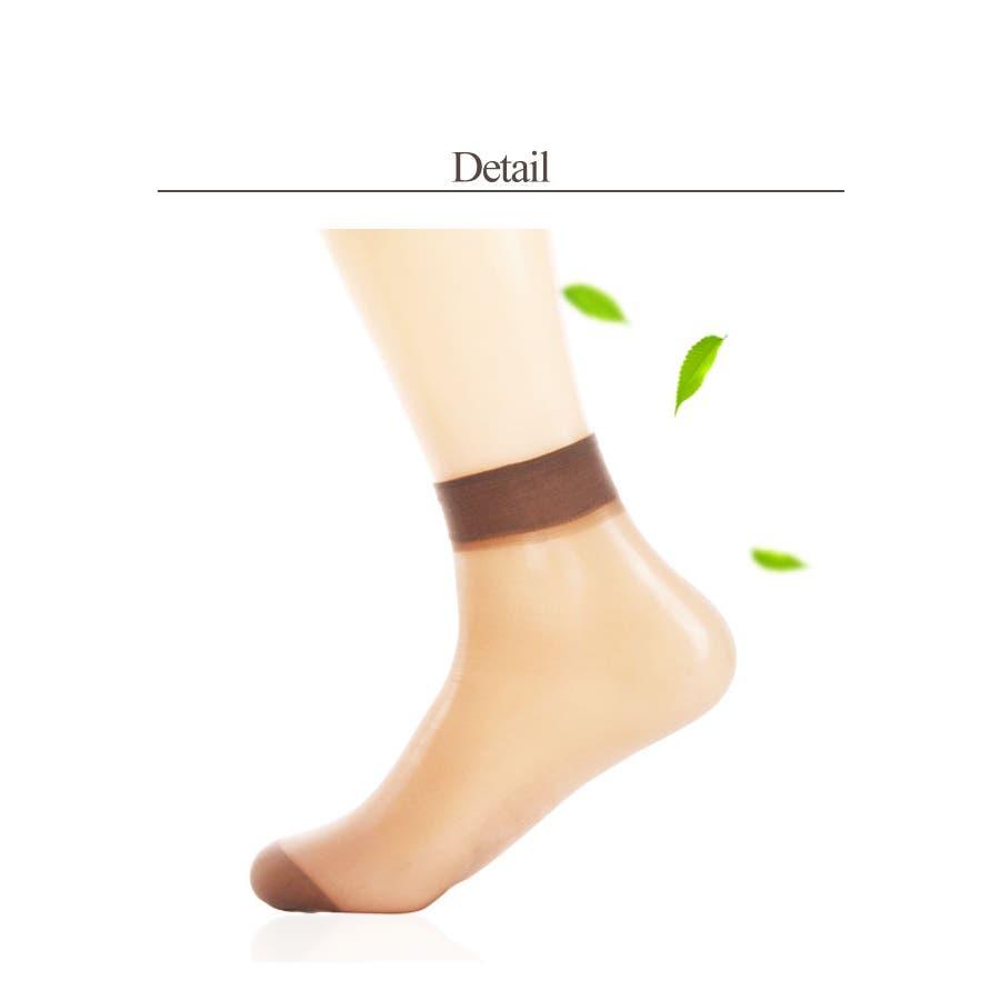 レディース ソックス シースルー | 靴下 ナイロン 女性 ストッキング 透け感 ブラック グレー ブラウン ライトベージュシンプル使いやすい ショート丈 ミディアム丈 6