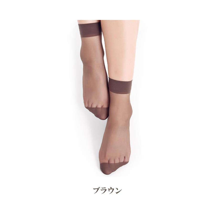 レディース ソックス シースルー | 靴下 ナイロン 女性 ストッキング 透け感 ブラック グレー ブラウン ライトベージュシンプル使いやすい ショート丈 ミディアム丈 29