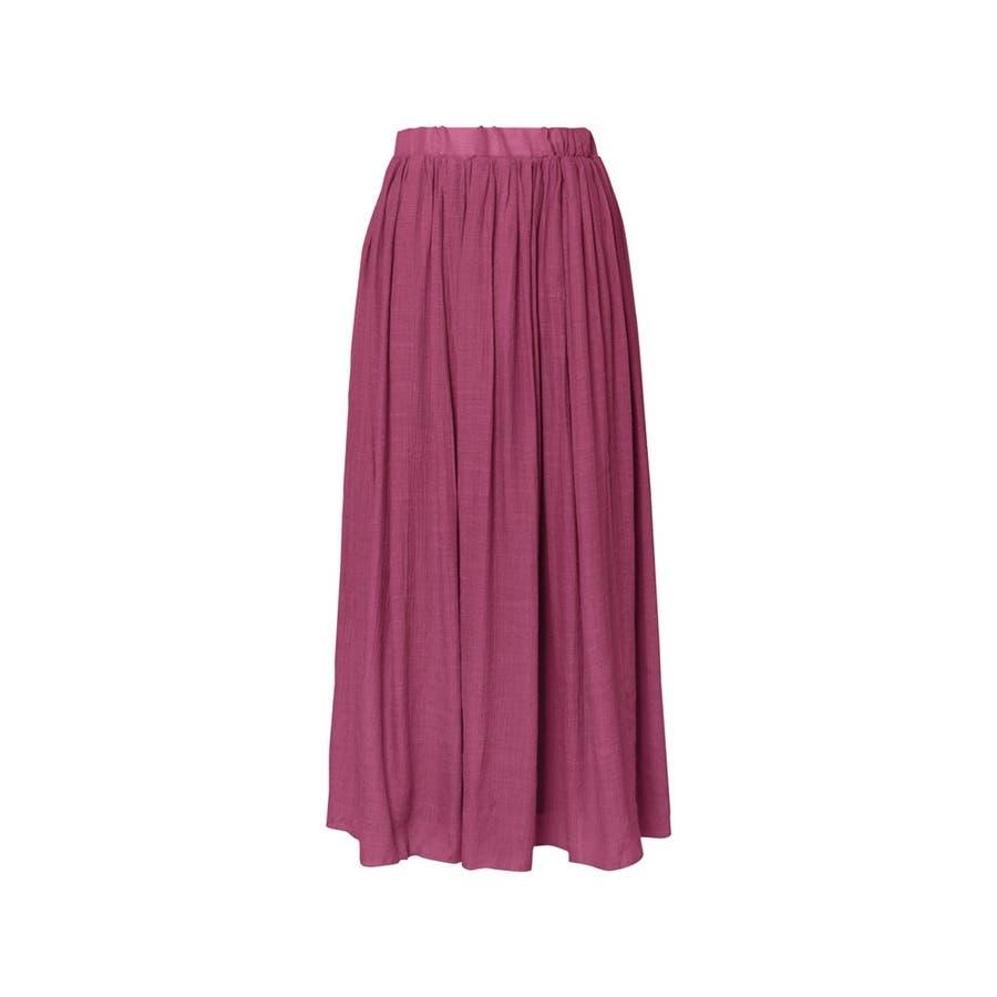 大人気の涼感フレアスカートが今年も登場! ロープ付き楊柳ロングフレアスカート 93