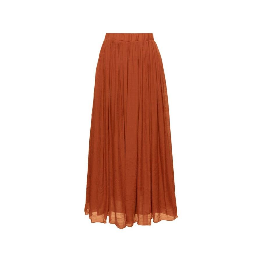 大人気の涼感フレアスカートが今年も登場! ロープ付き楊柳ロングフレアスカート 102
