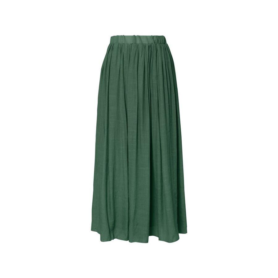 大人気の涼感フレアスカートが今年も登場! ロープ付き楊柳ロングフレアスカート 47