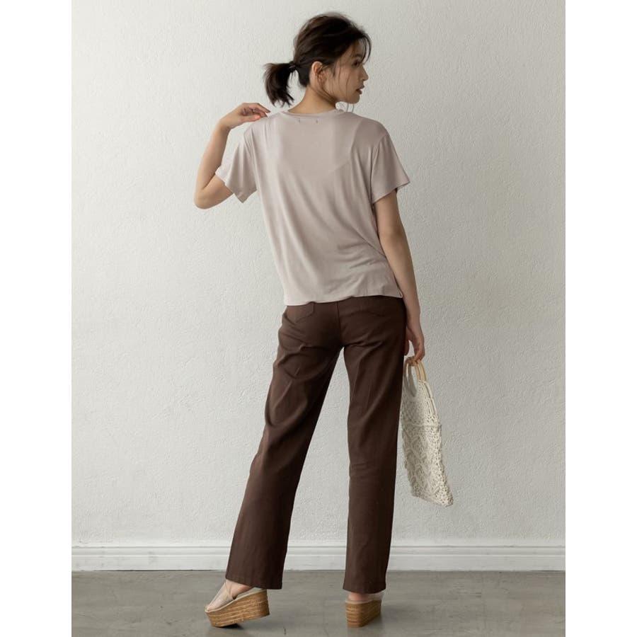 綺麗な落ち感と柔らかな肌触りが魅力 極とろみVネックTシャツ トップス 6