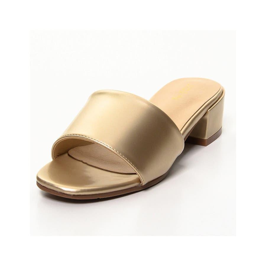 夏の足もとに鮮やかなアクセント スクエアトゥワンベルトカラーサンダル シューズ 105
