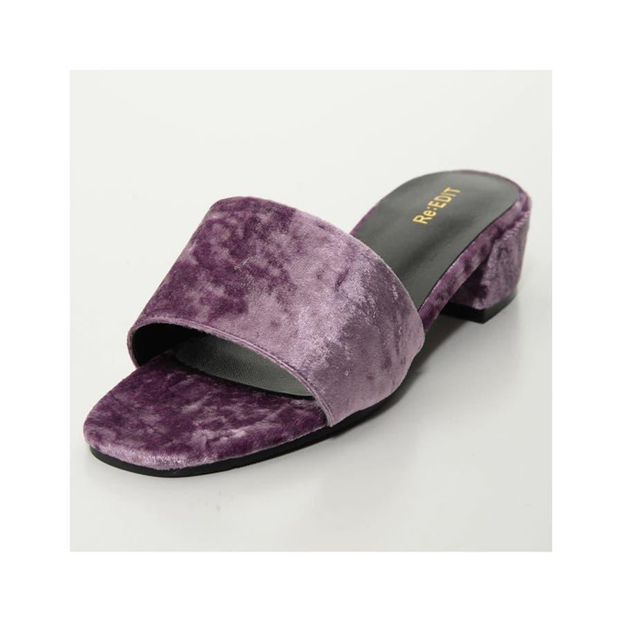 夏の足もとに鮮やかなアクセント スクエアトゥワンベルトカラーサンダル シューズ 82