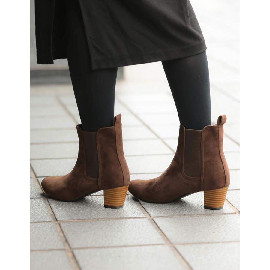毎日履きたいのはこんなデイリーブーツ スタックヒールサイドゴアショートブーツ シューズ/ブーツ/ショートブーツ 10