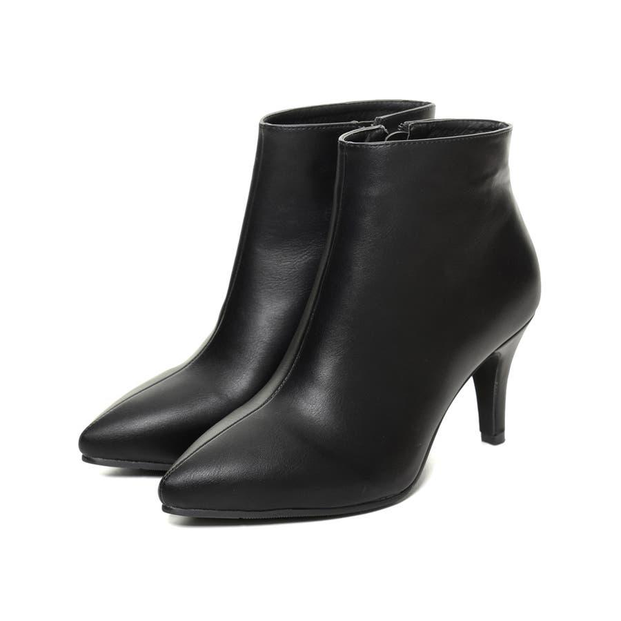 脚を細く、長く、美しく!こだわり美シルエット。 [星玲奈さん着用]ポインテッドトゥサイドジップショートブーツ シューズ/ブーツ 21