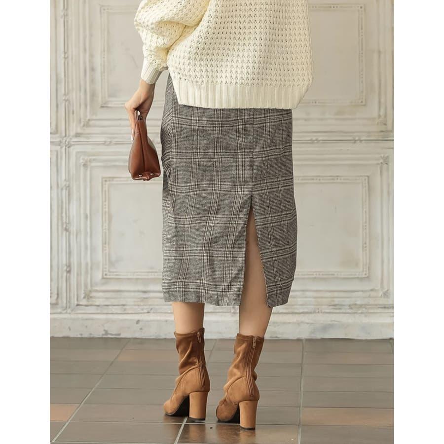 ウエストすっきり上品リボンスカート ウールタッチウエストリボンロングスカート ボトムス/スカート/ミニ丈(40〜50cm) 5