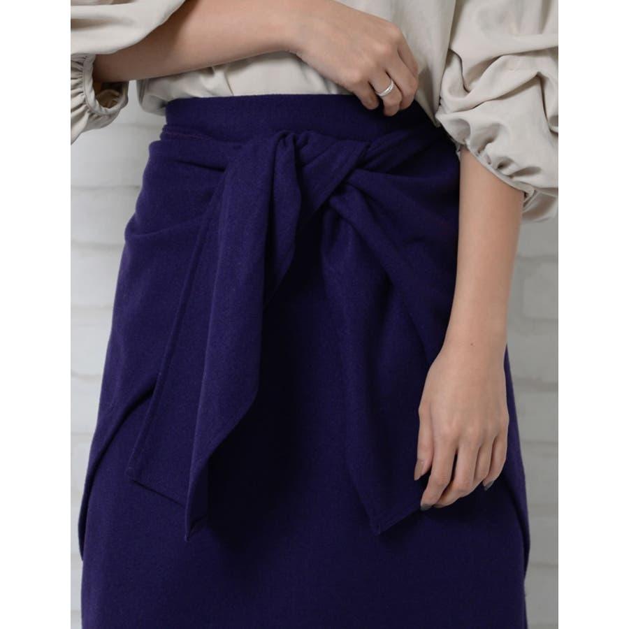 ウエストすっきり上品リボンスカート ウールタッチウエストリボンロングスカート ボトムス/スカート/ミニ丈(40〜50cm) 10