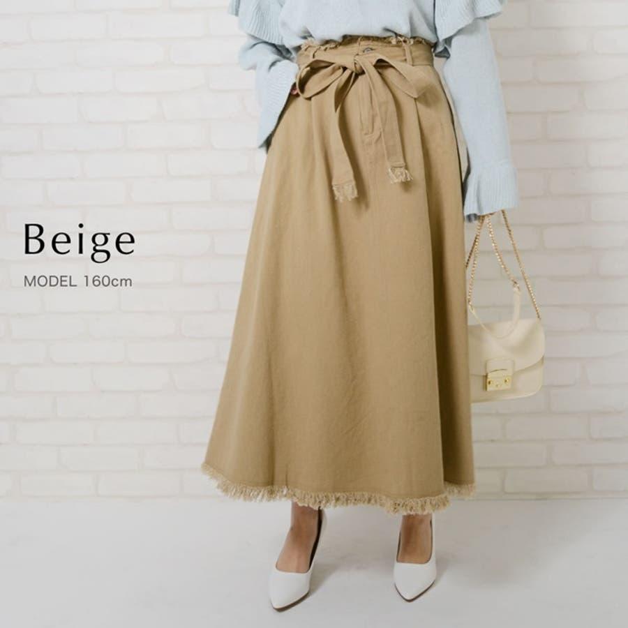 ナチュラルな質感が見せる春の訪れ 綿ツイルAラインスカート ボトムス/スカート/ロング・マキシ丈(76cm〜) 6