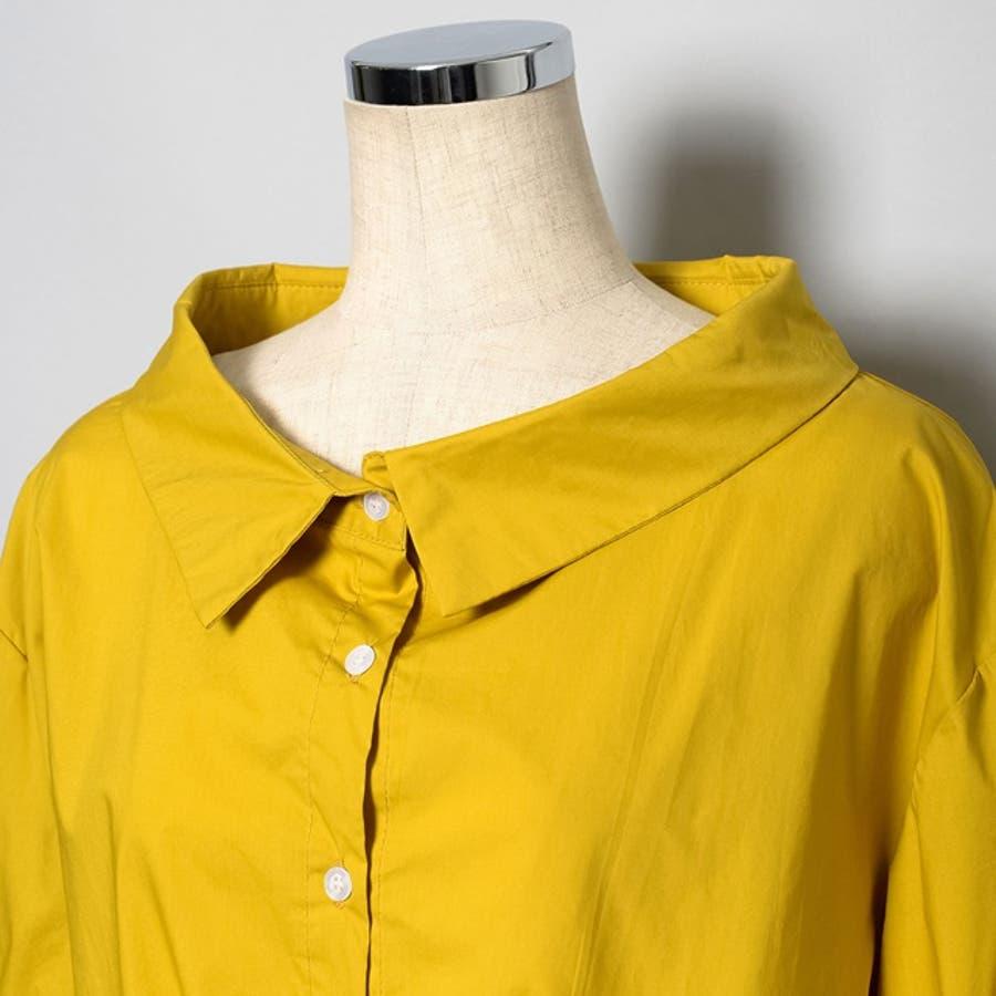 アレンジを楽しむ、シンプルブラウス コットン混ボリューム袖ブラウス トップス シャツ・ブラウス 春 10