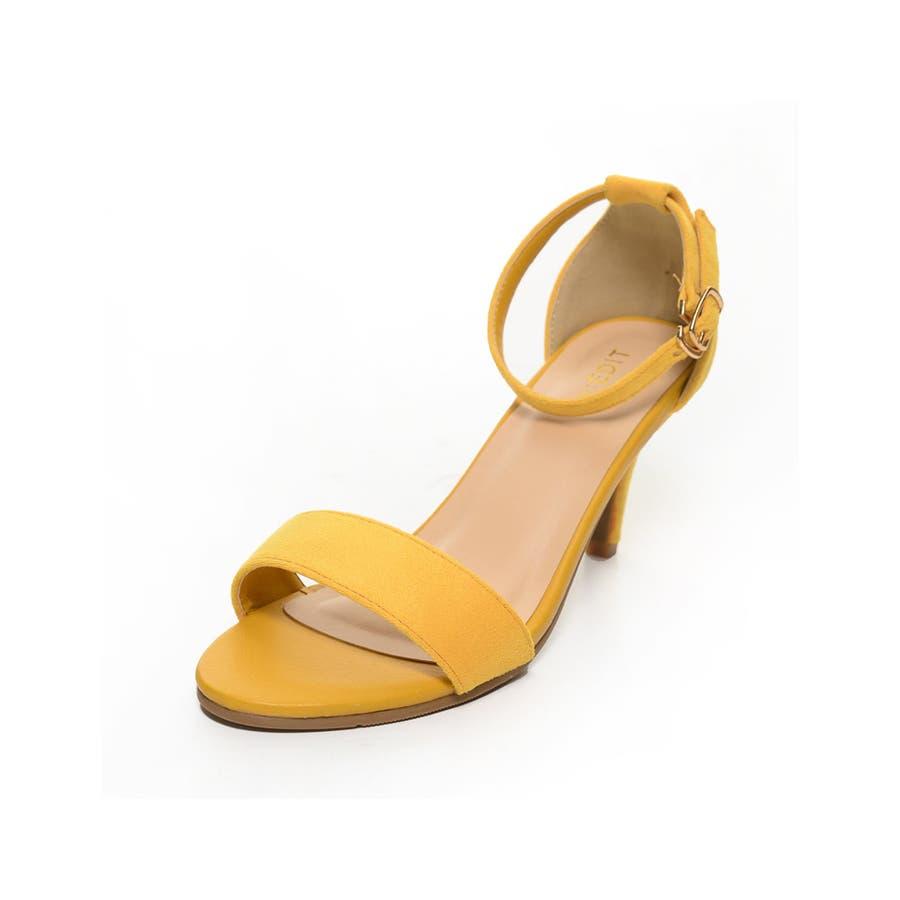 華奢で女性らしい足元にしてくれるカラーサンダル アンクルストラップワンベルトカラーサンダル シューズ/サンダル/ヒールサンダル 83