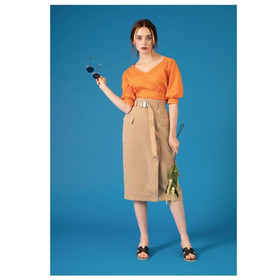 ディテールで魅せる大人のナロースカート ベルテッドBIGポケットタイトスカート ボトムス/スカート/膝丈・ミモレ丈(51〜65cm) 6