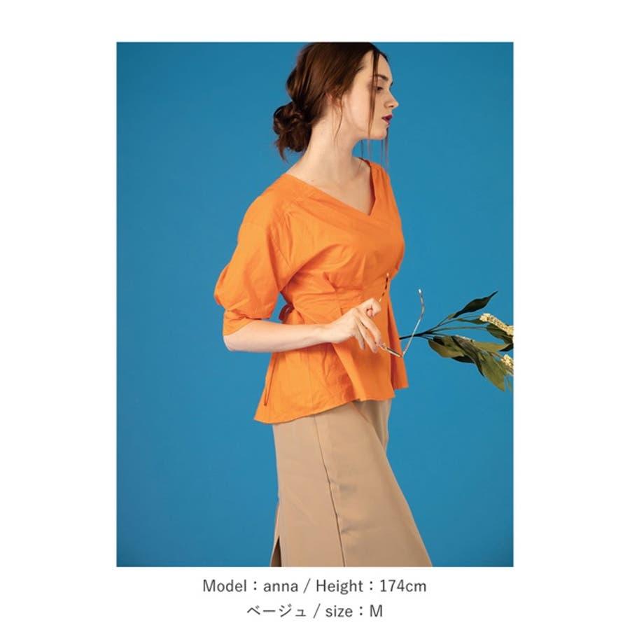 ディテールで魅せる大人のナロースカート ベルテッドBIGポケットタイトスカート ボトムス/スカート/膝丈・ミモレ丈(51〜65cm) 9