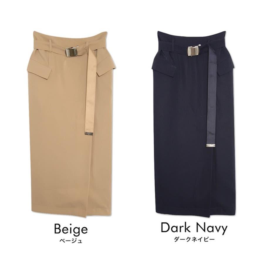 ディテールで魅せる大人のナロースカート ベルテッドBIGポケットタイトスカート ボトムス/スカート/膝丈・ミモレ丈(51〜65cm) 2