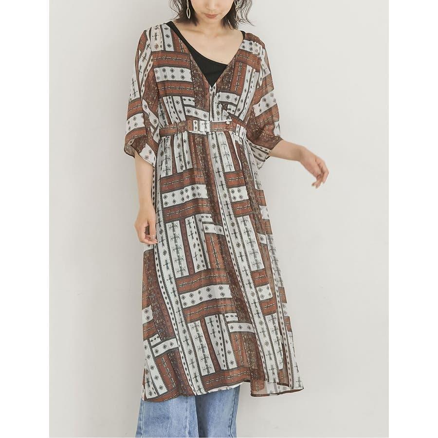 羽織りとしてもワンピースとしても使えるガウンカーディガン 10