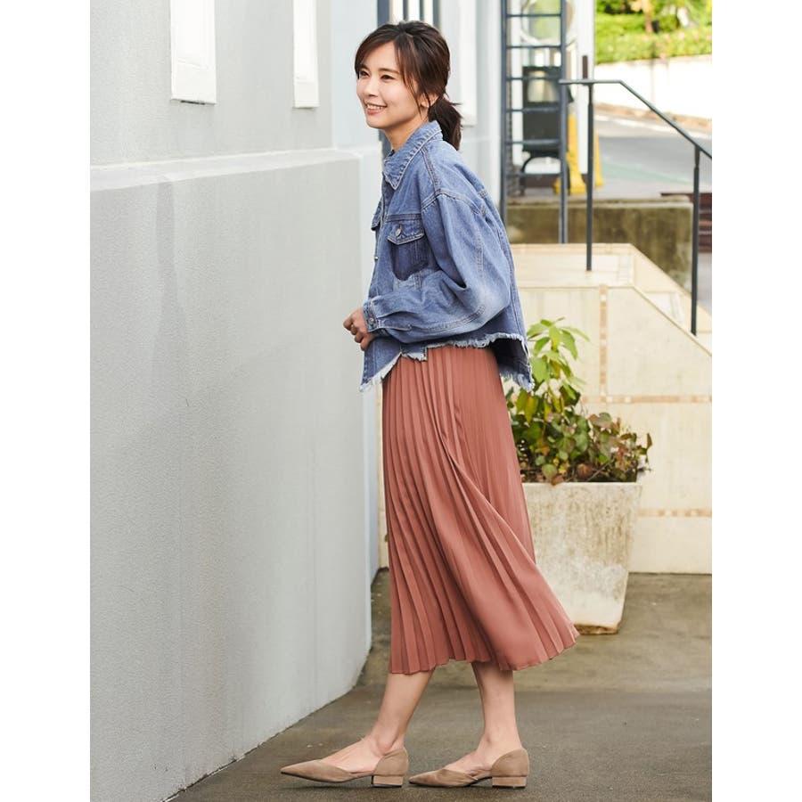 裾の断ち切りカットが印象的なデニムジージャン 風デニムジャケット アウター/ジャケット 5