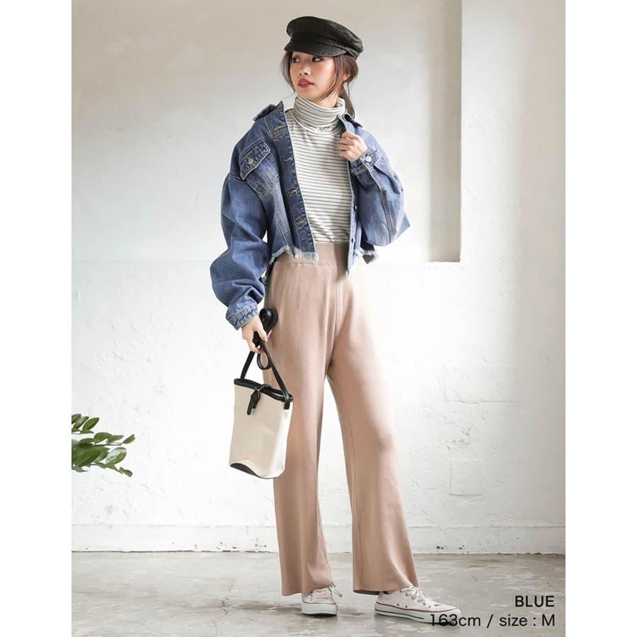 裾の断ち切りカットが印象的なデニムジージャン 風デニムジャケット アウター/ジャケット 7