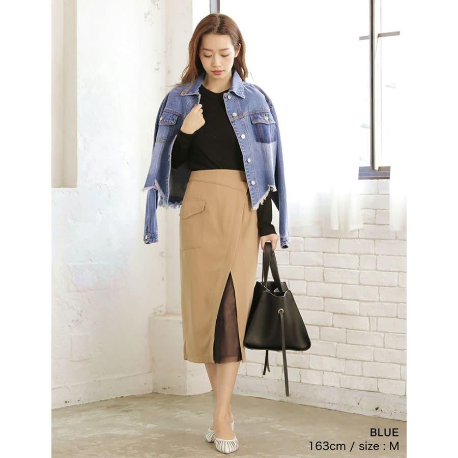 裾の断ち切りカットが印象的なデニムジージャン 風デニムジャケット アウター/ジャケット 9
