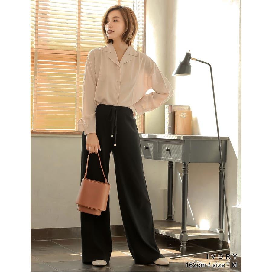 きゅっと裾を絞ってコンパクトに 裾リボンシャーリングブラウス トップス/シャツ・ブラウス 9