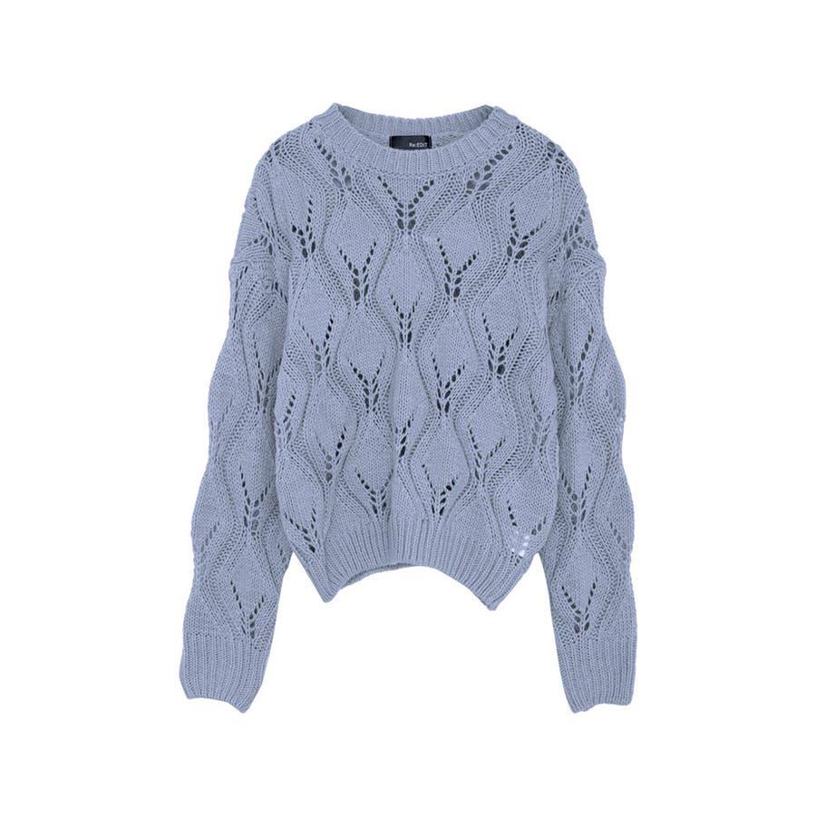 ひと味違う大人の女性の飾り編み かぎ編みニットトップス トップス/ニット/セーター 59