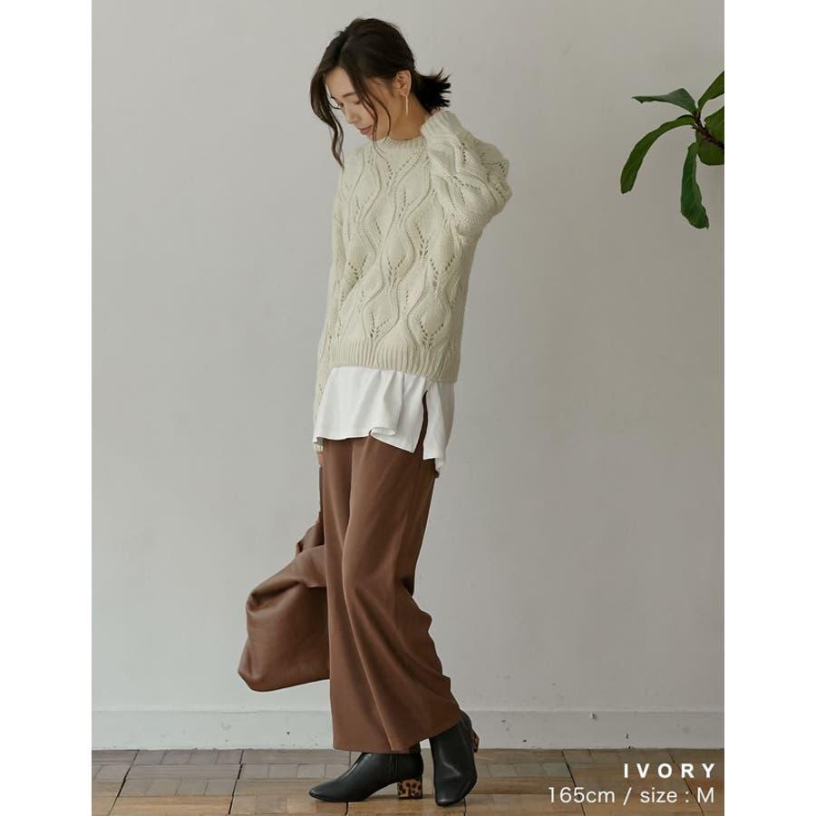 ひと味違う大人の女性の飾り編み かぎ編みニットトップス トップス/ニット/セーター 4