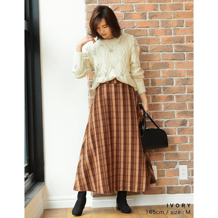 ひと味違う大人の女性の飾り編み かぎ編みニットトップス トップス/ニット/セーター 6