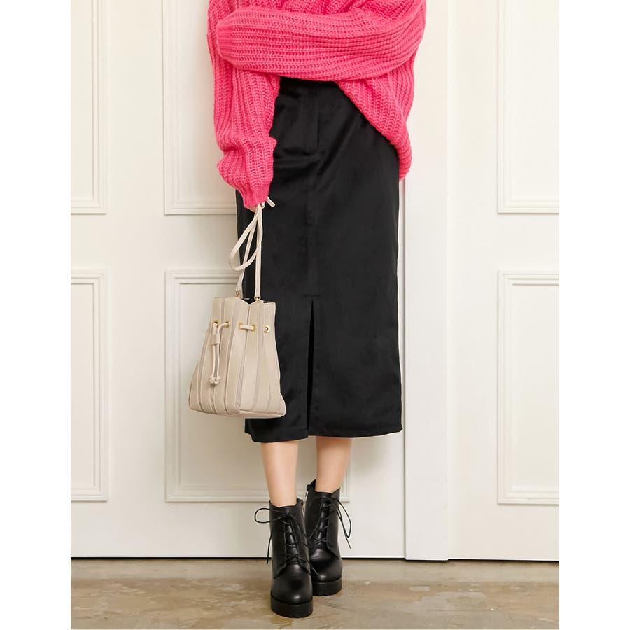 ベロアが引き出すしなやかな女性らしさ ベロアタイトスカート スカート/スカート 21