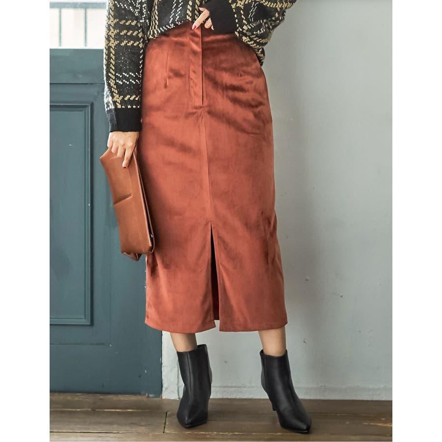ベロアが引き出すしなやかな女性らしさ ベロアタイトスカート スカート/スカート 29