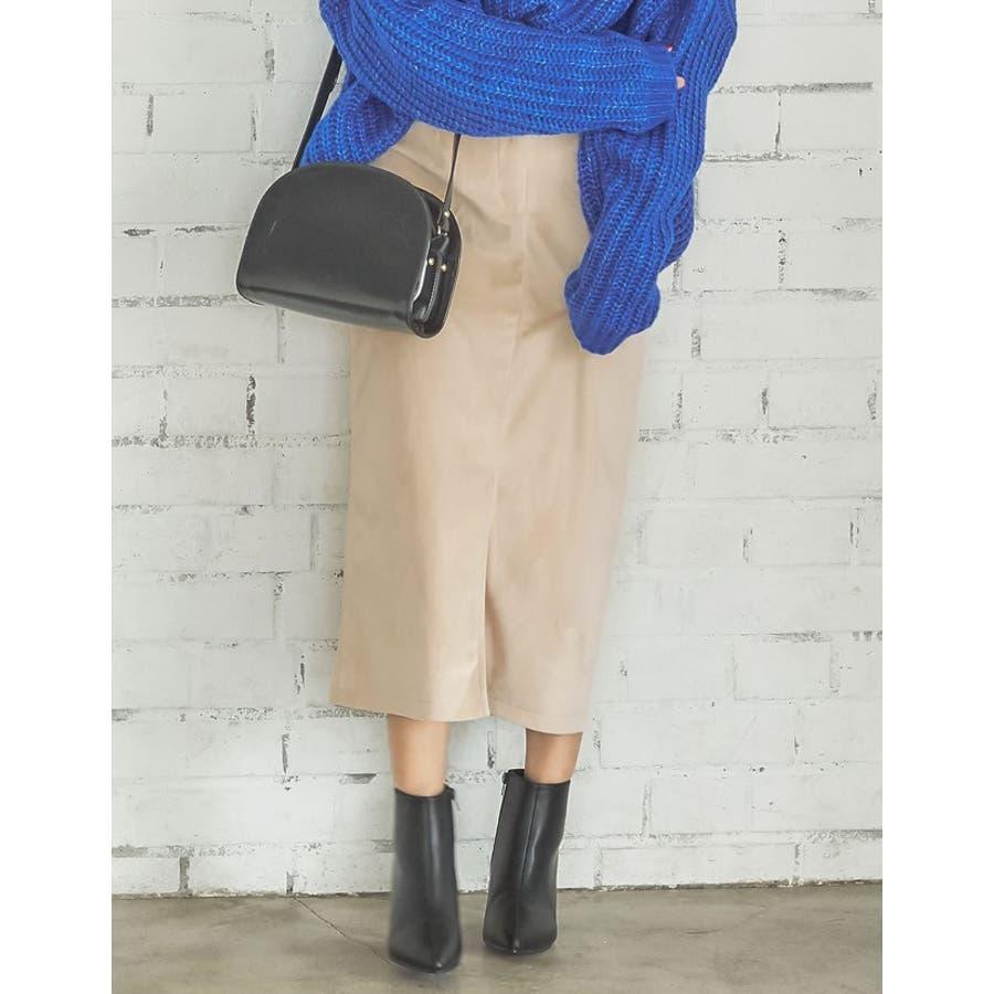ベロアが引き出すしなやかな女性らしさ ベロアタイトスカート スカート/スカート 4