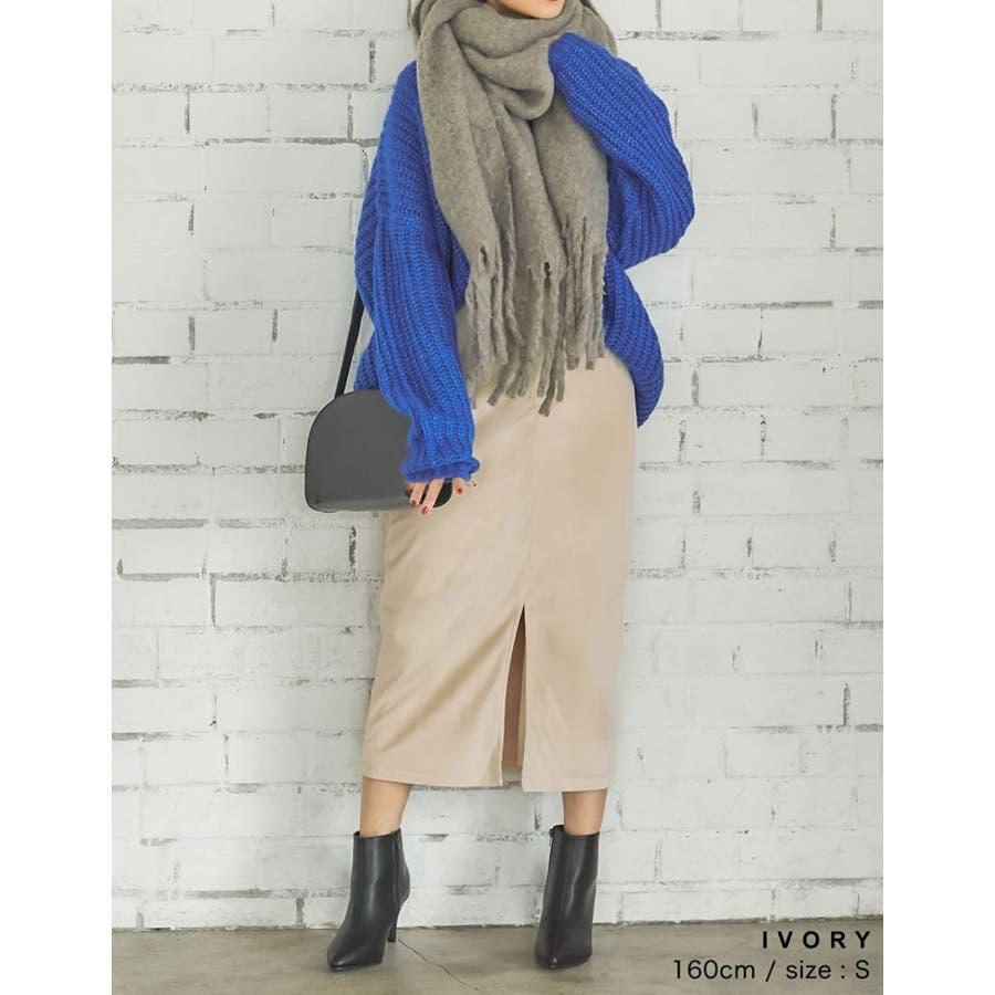 ベロアが引き出すしなやかな女性らしさ ベロアタイトスカート スカート/スカート 5