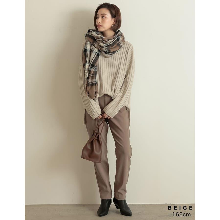 巻いて良し、羽織って良しのマルチなアイテム チェック柄フリンジビッグマフラー ファッション雑貨/マフラー/ショール 5