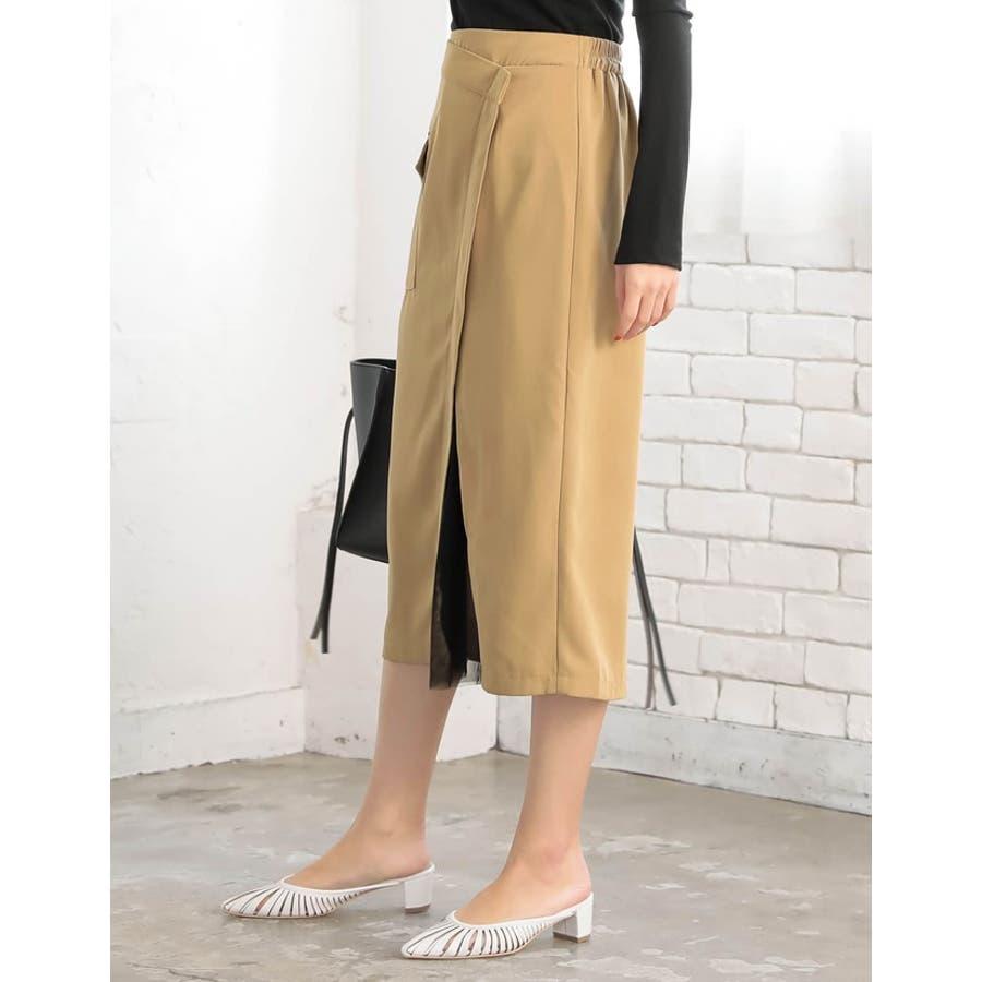レイヤード風のドッキングデザインが目を引くデザインスカート 6