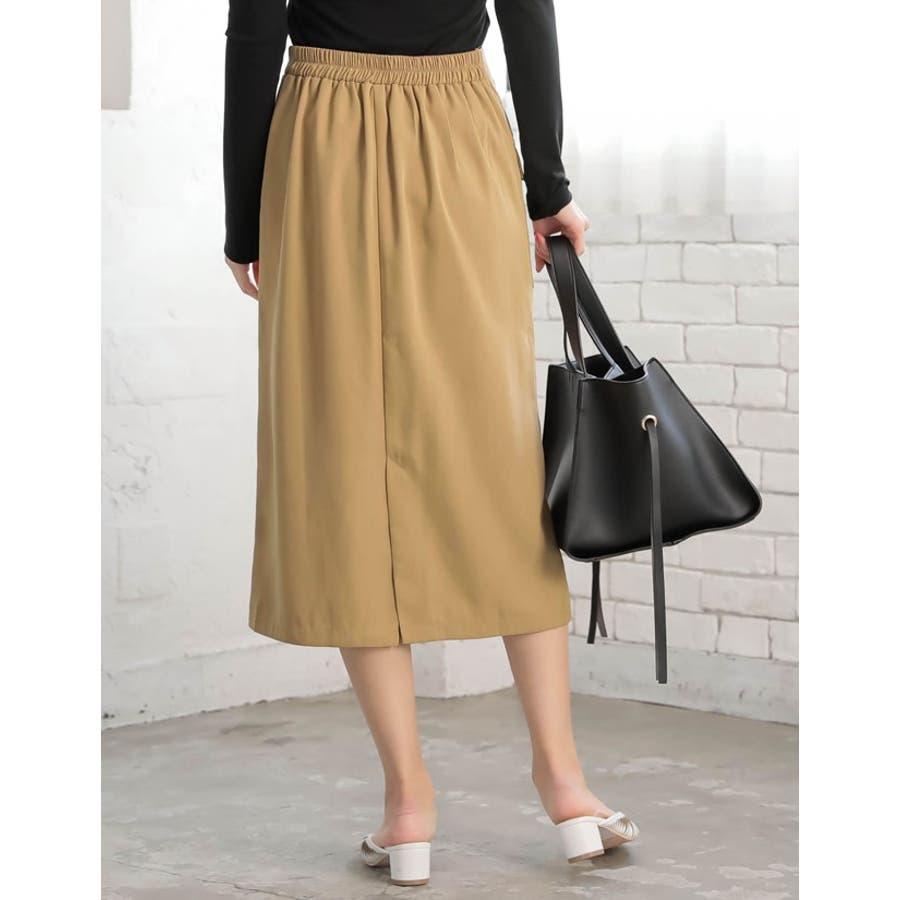 レイヤード風のドッキングデザインが目を引くデザインスカート 7