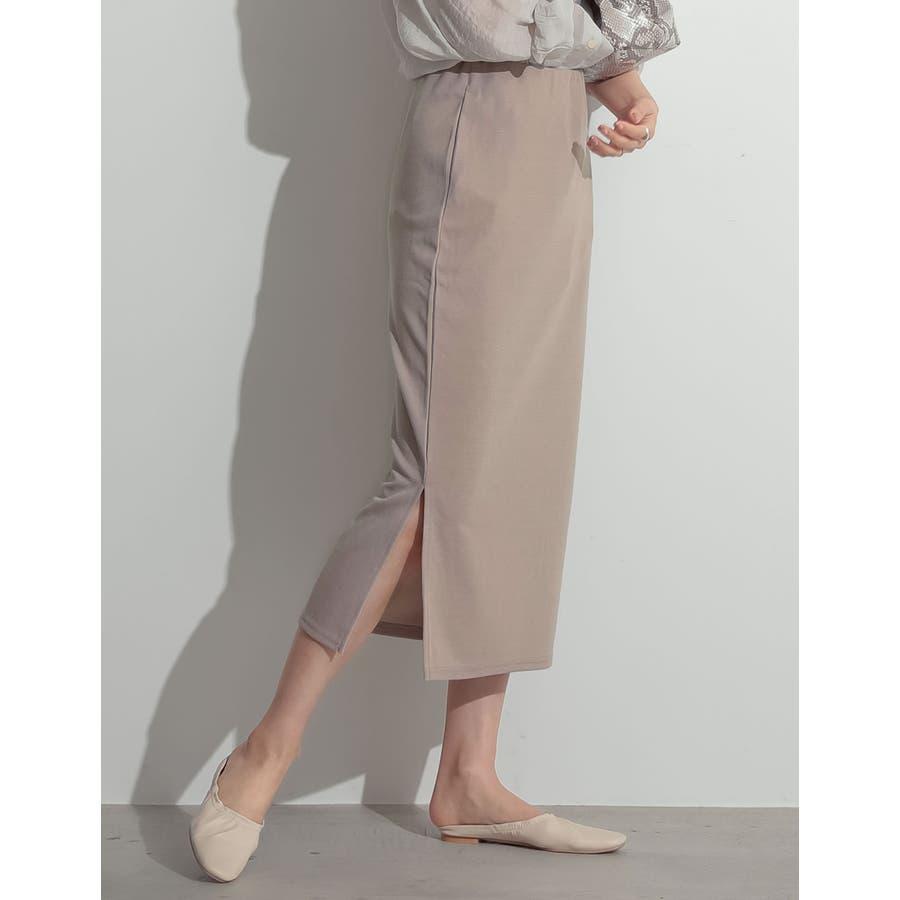 魅力的なタイトシルエットでノーブルな仕上がりに ミディ丈リブタイトスカート 41