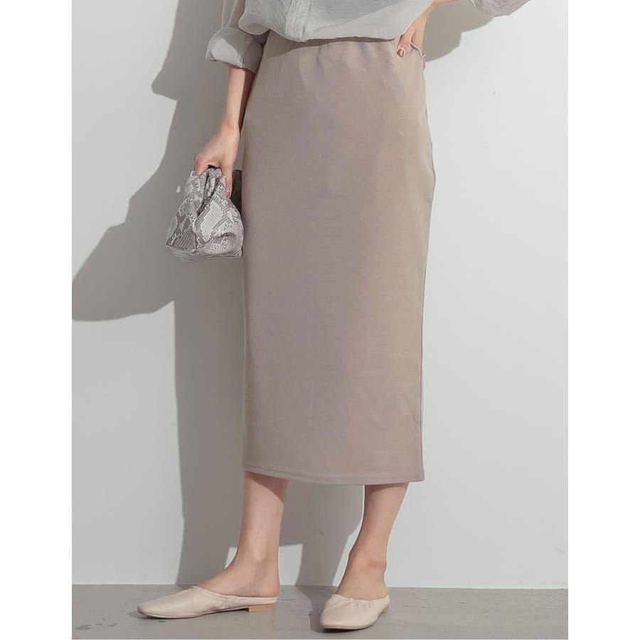 魅力的なタイトシルエットでノーブルな仕上がりに ミディ丈リブタイトスカート 6