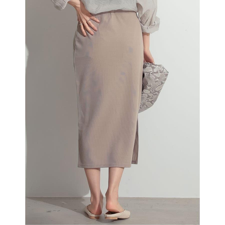 魅力的なタイトシルエットでノーブルな仕上がりに ミディ丈リブタイトスカート 8