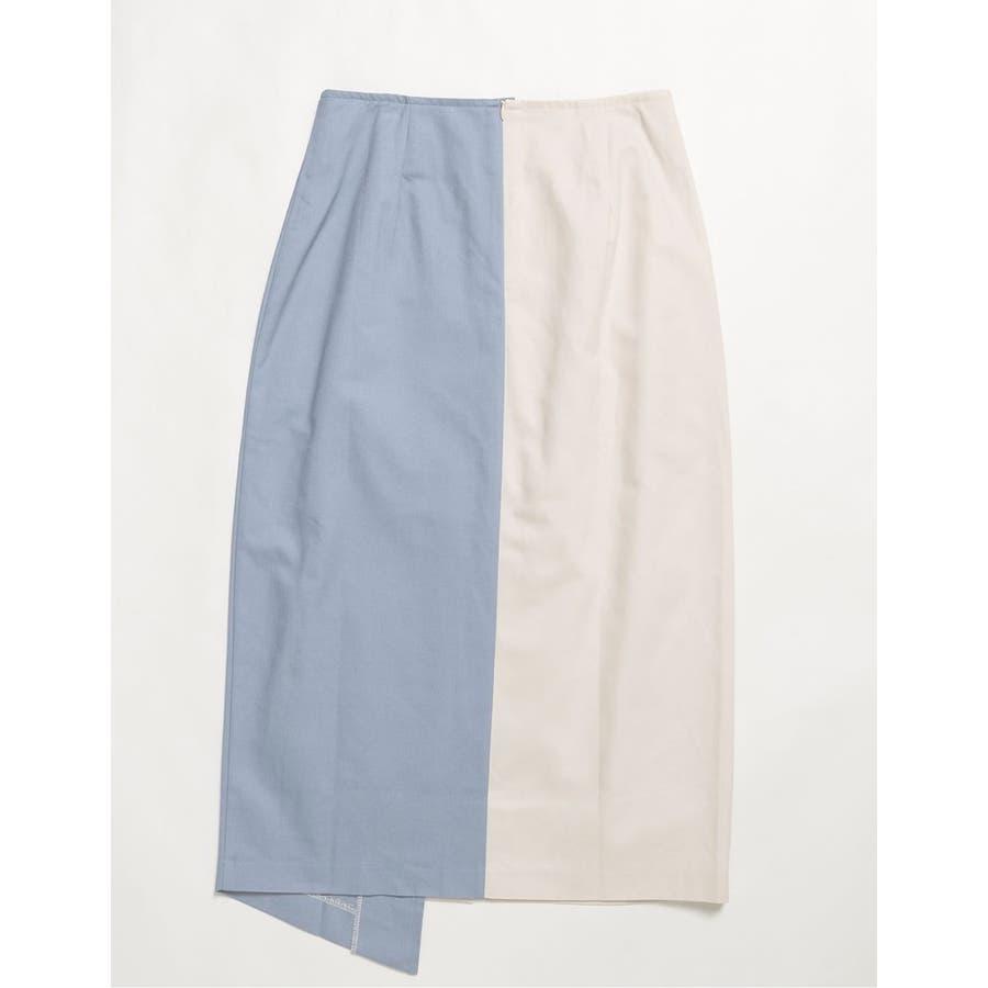 アーバンなバイカラースカート フロントスリットバイカラータイトスカート スカート/スカート 7